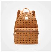 Wholesale Punk Rivet Chain Bag - 4 colors punk 6 rivet backpack brand school bag unisex backpack student bag men travel STARK BACKPACK.