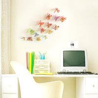 Wholesale 3D Butterfly wall stickers For Kids Room home decoration accessories d butterfly wall decoration stickers papel de parede