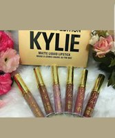 Новая Kylie Jenner Cosmetics Mini Matte Lipstick Kit Birthday Edition 6Pcs Pack с высоким качеством низкой цены