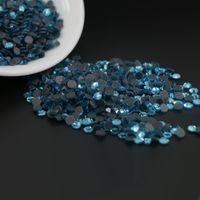 Wholesale Pink Aquamarine - factory direct sale good quality DMC Hot-fix Round glass Rhinestone Diamond Gems SS6,SS10,SS16, 1440pcs lot (Aquamarine)