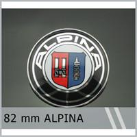 emblèmes chromés achat en gros de-20Pcs / Lot 82mm Emblème Badge pour ALPINA Chrome Capot Capot pour E9 E21 E28 E30 E46 E87 E90 Livraison Gratuite