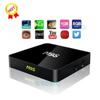 M9S X1 Android 6.0 TV BOX Smart Mini PC Amlogic S905X Quad Core H.265 Lecteur multimédia 2.4GHz Wifi HDMI 2.0A Game 1080P Home Theater