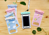 Wholesale Underwater Camera Iphone - Cartoon Waterproof bag PVC Protective Mobile Phone Bag Pouch underwater camera For Iphone X 6 7 8   Plus