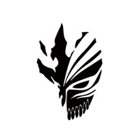 anime spiegel großhandel-Auto Stying Ichigo Hollow Maske Anime Auto Aufkleber Für Lkw Fenster Auto Suv Tür Neue Design Vinyl Aufkleber Jdm