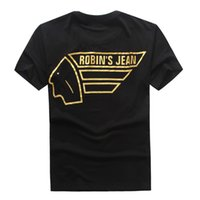 Wholesale Short Rivet Jeans - 2017 New Robin T-shirt Mens robin jeans shirts shirts for men Robins men bottoming robins shirt t shirts for men tops puls size 3XL