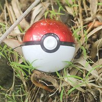 Wholesale Light Toys For Sale - whole sale Poke go ball power bank 10000 mAh for AR game pokeball powerbank With LED Light Portable Charge Figure Toys For iPhone Samsung