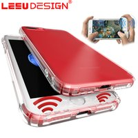 Silicone speaker fittings - LEEU DESIGN for iphone plus clear case air cushion anti shock tpu case stereo sound speaker anti dust transparent cover for iphone