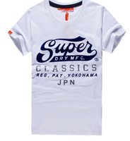 Wholesale Graphic Crew Necks - Hot Summer SUPER men's cotton Vintage Logo T shirts Fashion crew Neck Graphic Tee men top tees polos shirts