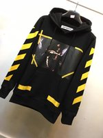 Wholesale Men Diagonal Hoodie - Wholesale-top perfect 2016 New off white 7 OPERE hoodie with brushed diagonals men and women hooded sweatshirt