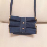 ingrosso borse per bambini-Kids Girls Fashion Rivet Ruffle Jeans Hangbags 2017 Baby Girl Cute Mini Borsa a tracolla per bambini Princess Bag