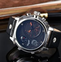 Wholesale Watch Stainless Steel Compass - New Arrival Famous Brand Business Mens Luxury watches With Compass Automatic Date Leather band Quartz Wrist Watch For man male Reloj Hombre