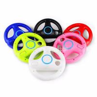 Wholesale Game Steering - 6 Colors Kart game Racing Steering Wheel For Nintendo Wii Game Remote Controller For Wii Roda Remote Control Colorful Game Acessorios