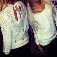 Wholesale Thin Crochet - Wholesale- 2016 Spring & Autumn Women's Sweater Female Warm Wool Blend Knitting Pullover Knitted Women Sweaters and Pullovers Outerwear