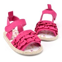 Wholesale Wholesale Baby Walkers Prices - Wholesale- Factory Price! Toddlers Baby Girls First Walkers Princess Infants Shoes Kids Prewalkers Summer