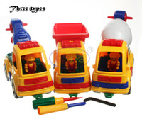 Wholesale Diy Toys Truck Car - CongMingGu Block Toy Technic Blocks Cars Model Pixar Junior City Engineering Vehicles Truck DIY Plastic Assembly Toys Gift