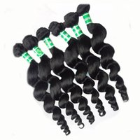 Wholesale Brazilian Virgin 6pcs - Brazilian Peruvian Virgin Hair Extensions Natural Black Color Loose Wave 6pcs lot 14-28 inch Available Hair Bundles 100% Virgin Human Hair