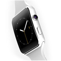 Wholesale Facebook Messaging - E6 Smart Watch X6 Bluetooth Smartwatch Curved Screen With Alarm Clock Camera Support SIM TF Card Facebook Twitter Relogios Smart