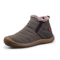 Wholesale Cowboy Ankle Boots For Men - Men Winter Snow Shoes Lightweight Ankle Boots Warm Waterproof Botas Mens Rain Boots 2016 New Furry Booties Shoes For Men C#002