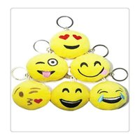 Wholesale Keychain Favors For Men - Emoji Mini Plush Pillows Wedding Keychains Lovely Emoji Smiley keychains love keychainS Keychain Favors for Best Kids Gift and Party Suppli