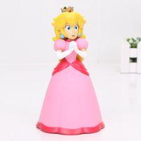 Wholesale Princess Peach Pvc Figure - NEW 14cm Super Mario Bros Princess Peach PVC Action Figure Model Toy Doll Kids Toys