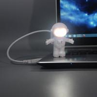mini ordinateurs chine achat en gros de-Night Lights LED USB Connect Mini Spaceman Toy Table 5V Ordinateur Lampes de bureau d'éclairage d'urgence avec batterie directe Shenzhen Chine Wholesales