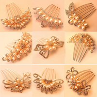 Acessórios de moda de Jessica New Ornaments Headwear Crystal Pearl Diamond Hair Fork Hairpinjewelry atacado