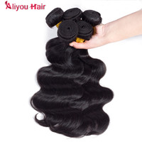 Wholesale Weave Suppliers - Selected Supplier Top Quality Human Virgin Hair Bundles Malaysian Brazilian Peruvian Body Wave Hair Weaves 4pcs Natural Color Free Shipping