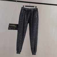 Wholesale Plus Size Snow Clothes - Wholesale- H1 Spring Casual Women Jeans 4XL Plus Size Clothes Drawstring SNOW Harem Pants Fashion Stretch Denim Trousers 1063