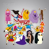Wholesale Anime Cars - 25 Pieces Lot American Drama Adventure Time Funny Anime Sticker Decal For Car Bicycle Notebook Waterproof Stickers