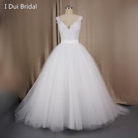 Wholesale Dress Way - Illusion Lace Back Wedding Dresses with Detachable Train Skirt Two Way Long Short Factory Custom Make 2017 New Vestidos Casamento