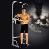 Wholesale Sports Training Equipment - Training Equipment Adjustable Height Power Tower Station Pull Up Bar Standing Tower Gym Sports Equipment 550 Lbs Pull Up Tower Muscle Train