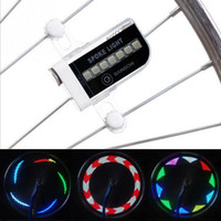 Hot Sale Colorful New 14 LED Moto Cyclisme Bicyclette Bike Wheel Signal Pneu Spoke Light 30 Changements Cyclisme Accessoires