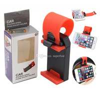 Wholesale car steering phone holder resale online - For Iphone Universal Car Steering Weel phone Socker Holder car Holder For Smart Phone PDS GPS PSP Camera Recoder With Retail Box