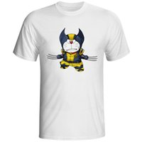 Groß-Doraemon Crossover Logan Anime Cartoon T-shirt Design Parodie Lustige T-shirt Coole Neuheit Geek T-shirt Stil Männer Frauen Mode T
