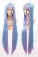 Wholesale Costumes Wigs Cheap - Wholesale cheap No Game No Life Shiro 90cm Anime Cosplay Costume Wig+ free gift
