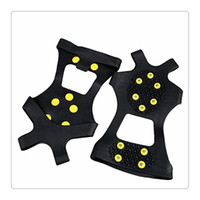 Ice Snow Grips Over Shoe Boot Traction Cleat Puntas de goma Anti Slip 10 Stud Crampons Slip Ski Snow Escalada de senderismo Calzado de estiramiento