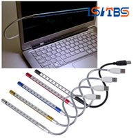 Wholesale Flexible Mini Keyboards - product Mini Portable Flexible 10 LEDs USB Light Computer reading Lamp for Notebook Laptop Computer Desktop PC Keyboard