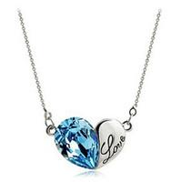 sevgililer için en iyi yılbaşı hediye toptan satış-Küçük Kalp Mektup Kolye Altın Ve Gümüş Renk Için En Iyi Yılbaşı Hediyeleri Onu / Kız Arkadaşı Corrente De Prata Kolye