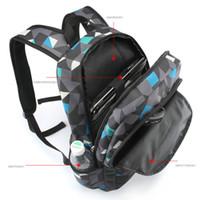 Wholesale Fashionable Backpacks For Men - Wholesale- Men Backpack for teenagers polyester geometric bookbags brand schoolbag laptop backpack men's fashionable bagpack
