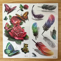 Wholesale Exotic Body Stickers - Wholesale- 2Pcs 3D Waterproof Temporary Tattoos Stickers Exotic Beauty Makeup Sexy Fake Temporary Tattoos Cool Stuff Body Art Tattoo Sleeve