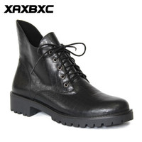 A055 Retro British Style Leather Brogues Oxfords Black Short Boot Femmes Boot inférieur Talon Pointed Toe Handmade Casual Lady Chaussures