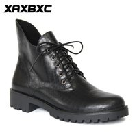 A055 Retro estilo britânico Leather Brogues Oxfords Black Short Boot Mulheres Boot lower Heel Pointed Toe Handmade Casual Lady Shoes