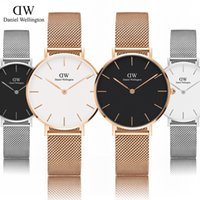 Wholesale Display Thin - Fashion Top Brand daniel Women Watches Ultra Thin Stainless Steel Band Analog Display Quartz watch Luxury Wristwatches Relogio Feminino