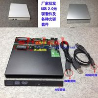dizüstü bilgisayar sabit diskleri toptan satış-Dhl veya ems tarafından 200 adet Taşınabilir USB 2.0 DVD CD DVD-Rom SATA Harici Kılıf Laptop için Siyah Harici Sabit Disk Disk Muhafaza