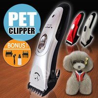 Barato Conjuntos De Lâminas Clipper Pet-Electric Dog Clipper Pente Set Animal Pêlo Lâmina Cat Pet Grooming Cavalo CORDLESS