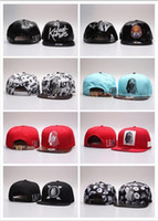 Wholesale Lk Leather - NEW Red Pink LK Gold Baseball Snapback Cap Last Kings Hats Girl's Hater Black Leather Snapbacks Hip-Hop adjustable hat caps Free shinip