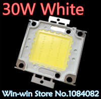 Vente en gros - 10pcs 30w led puce Integrated High Power Lamp Bead White 900mA 32-34V 2400-2700LM 24 * 40mil Taiwan Huga Chips