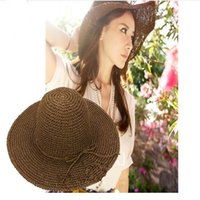Wholesale Small Brim Summer Hats - Straw hat manufacturers small pepper with the ladies sun eaves straw hat Korean version of the sun hat