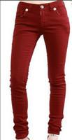 lederhose bootcut großhandel-Freies Verschiffen 22 Farben-neue Art- und Weisefrauen Robin-dünne Jeans-Denim-Flügel-Bleistift keucht Designer-berühmte Marken-Damenrotkehlchen-Jeans Größe 27-34