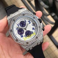 herren multicolor uhr großhandel-Luxus Herrenuhren Diamond Fashion Name Automatic Herren Sportuhr Multicolor Designeruhren Armbanduhren